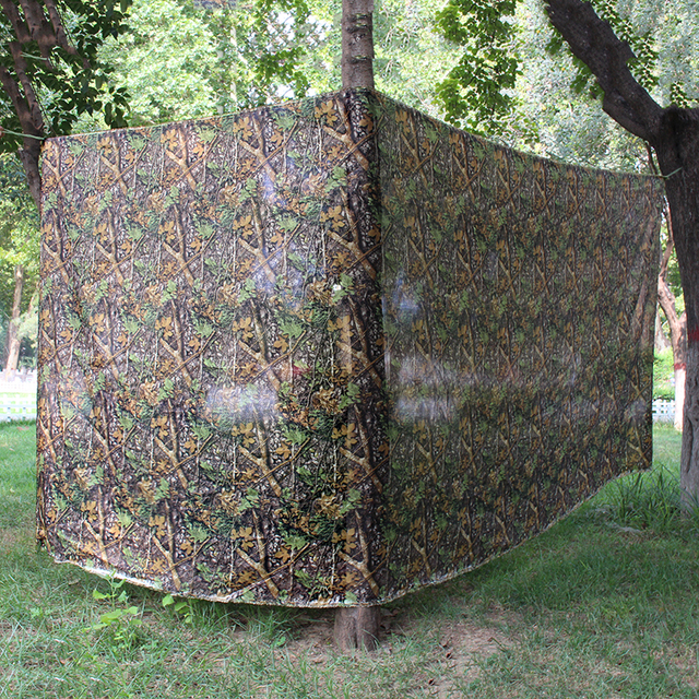 4x1.5 Clearview Hide Net Blind Jungle Game Hunting Camouflage Netting Hunting Tree Camouflage Light Cover Blind Camping Tent