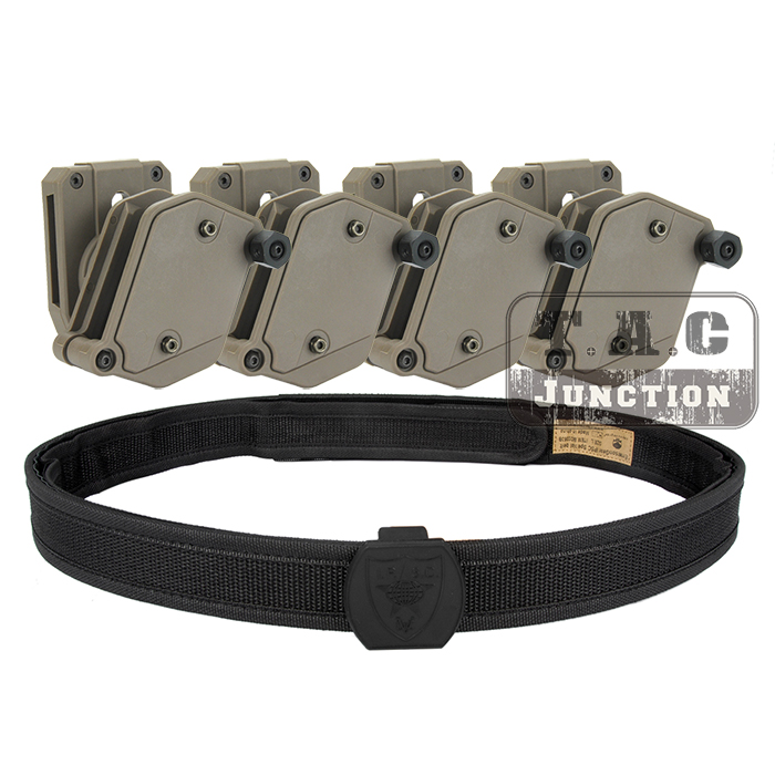 IPSC USPSA IDPA Competition High Speed Shooting Inner Outer Belt w 4 x Multi Angle Speed