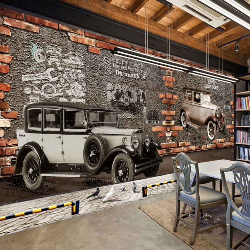 Classic car wall murals promotion shop for promotional for Car wallpaper mural
