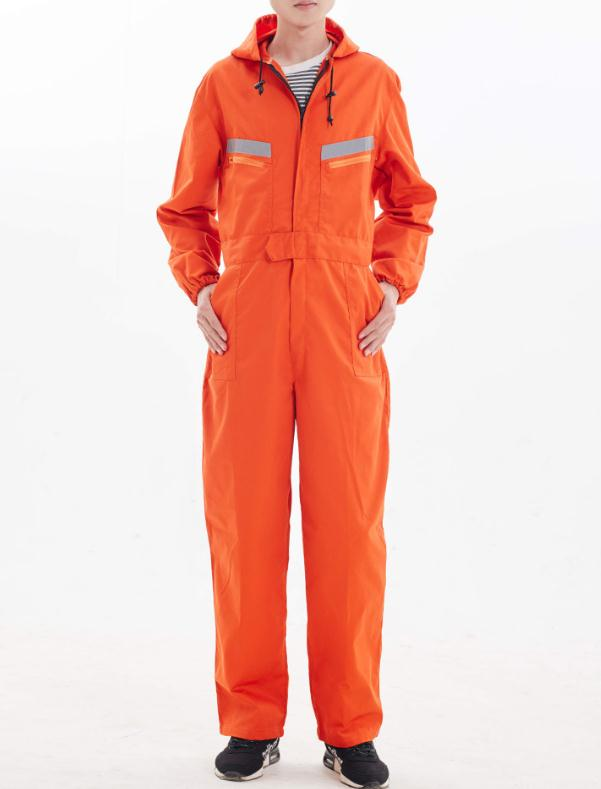 Best deals ) }}Safety reflective work overalls with hat,