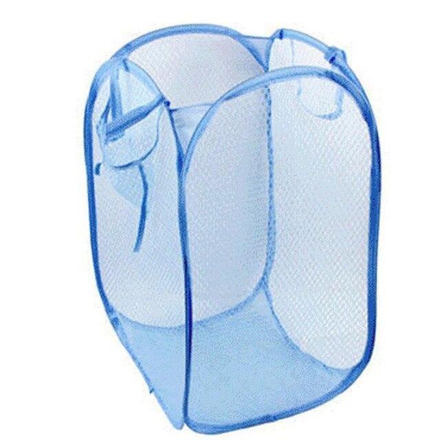 Foldable Pop Up Washing Clothes Laundry Basket Bag Hamper Mesh Storage Quality First