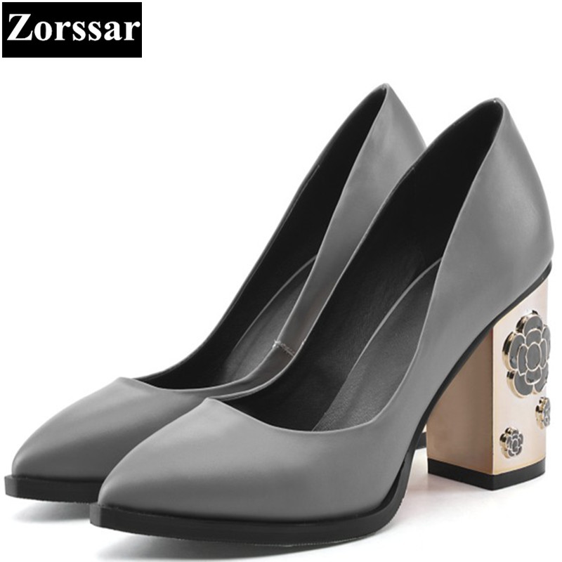 2017 Patent Leather Womens shoes high heels pumps women Work shoes Fashions flowers thick heel Pointed Toe shoes woman heel luxury brand crystal patent leather sandals women high heels thick heel women shoes with heels wedding shoes ladies silver pumps