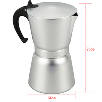 Household 12 Cups Aluminum Coffee Pot Coffee Percolator Portable Coffee Maker Stove Top Coffee Maker Pot