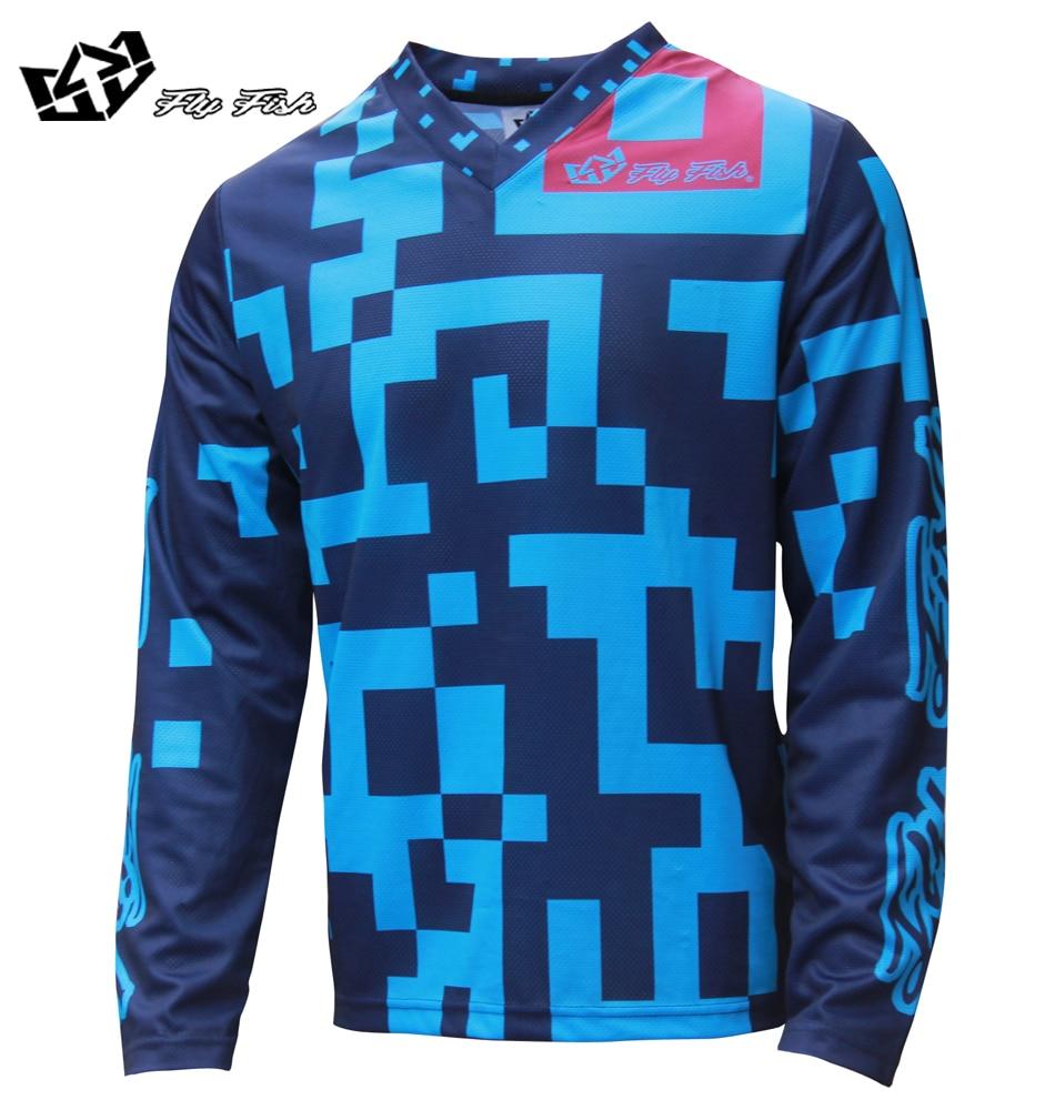 2018 FLY FISH RACING Moto GP Mountain Bike Motocross Jersey BMX DH MTB T Shirt Clothes B ...