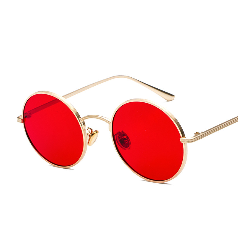 Metallic Round Sunglasses For Women Brand Retro Punk Men Eyeglasses Clear Lens Oculos