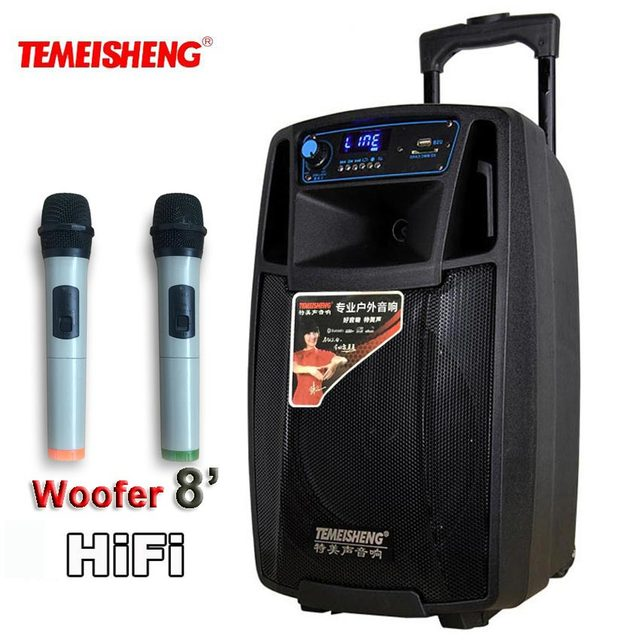 مكبر صوت عالي القوة HiFi بقوة 50 واط مكبر صوت لاسلكي مكبر صوت محمول بطارية ليثيوم يدعم بطاقة TF عمود نقل USB