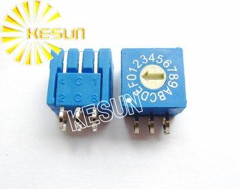 100% Original ERD116 ERD116RR 3:3 0-F 16 way 2.54mm Blue Rotary Encoder switch ERD116RRZ x 50PCS