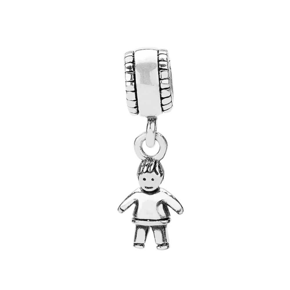 d31c3f0ded89d ZMZY 925 Sterling Silver Charms Mini Boy Pendant Diy Pendants Beads fit  European Pandora Bracelet Necklace-in Beads from Jewelry   Accessories on  ...