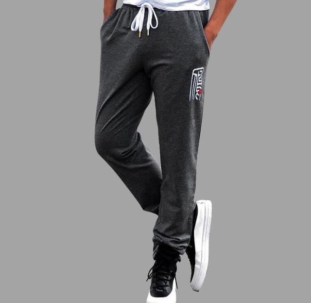 High quality cotton trousers men winter casual plus size pants fashion sweatpants increase active pants foreign trade large 8xl