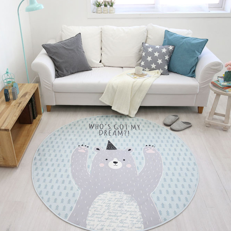 Deer Elk Animal Print Round Rugs And