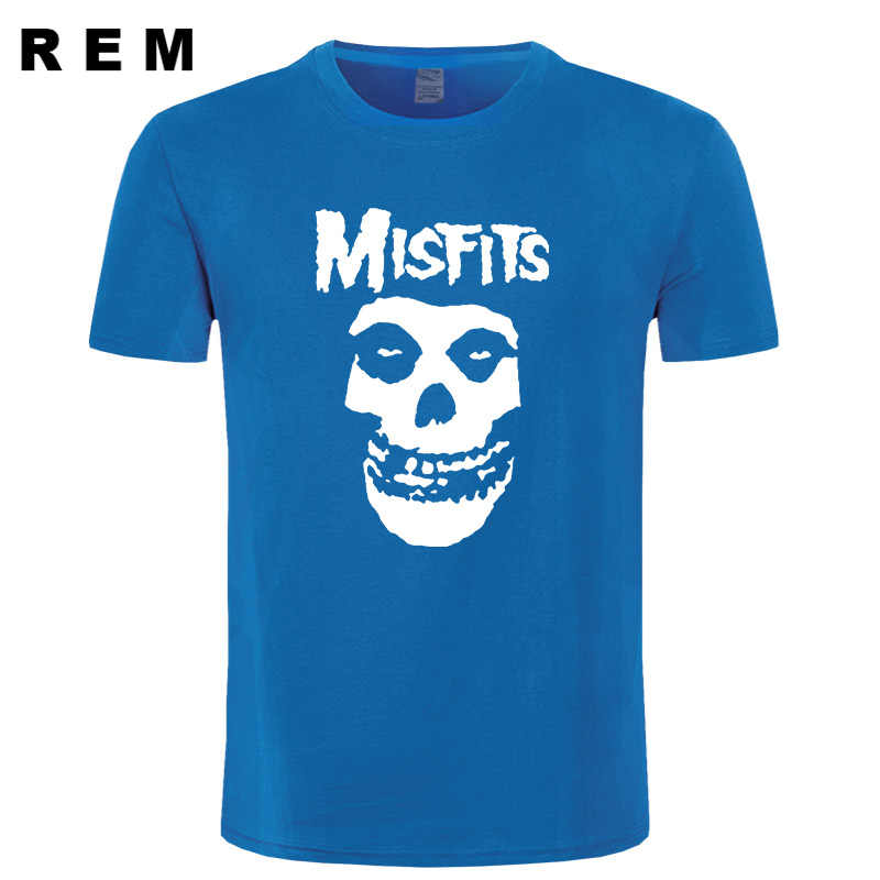 2e6a3b101b ... new men's hip-hop punk skull misfits brand cotton short-sleeve T-shirt  ...