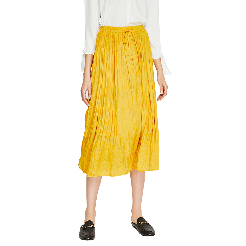 special sales high fashion brand new US $27.99 45% OFF|Toyouth 2019 Women Autumn Elastic Waist Pleated Skirt  Korean Style Mid Calf Skirts Women Elegant Purple Casual Skirt for  Female-in ...