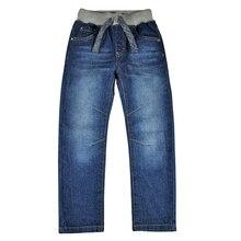 Kinder Jeans Jungen Hosen Denim Jugendliche Jeans Hosen Warm Teenager Herbst Winter Feste Nieten Elastische Taille Neue Jahr Baby Junge kleidung