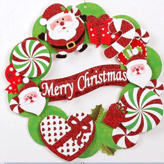 2pcs Pack Christmas Garland 36cm Cystosepiment Christmas Wreath