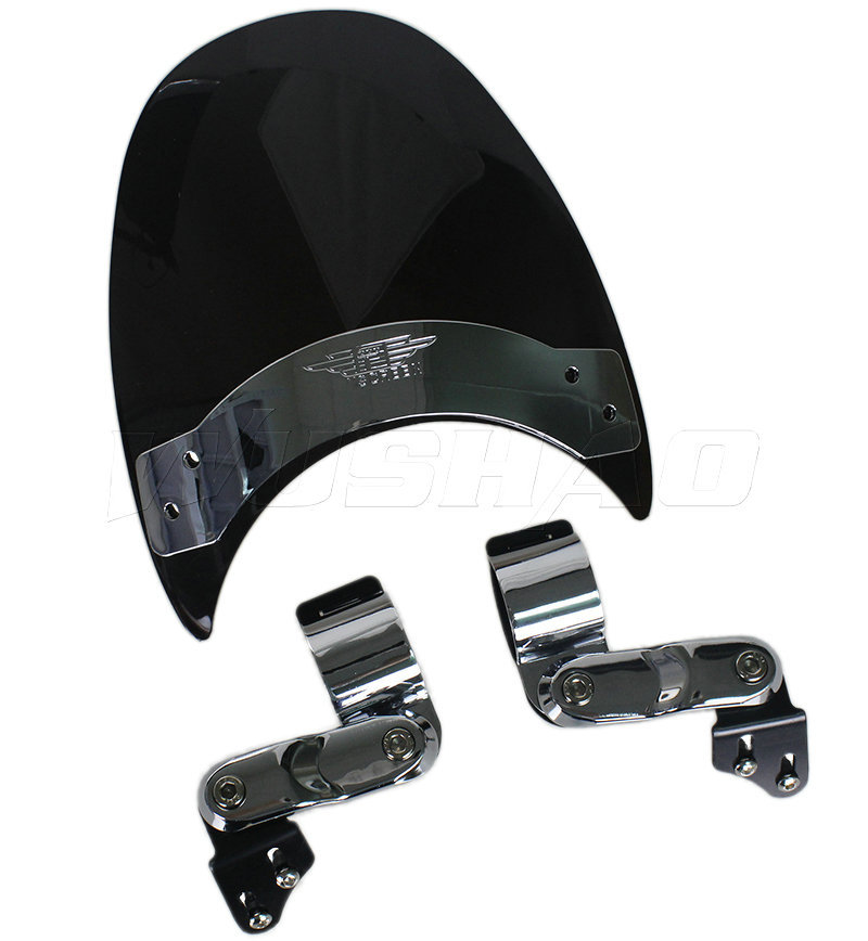 Frames & Fittings Audacious Motorcycle Windshield Windscreen For 1972-1985 Harley Sportster 1100 Xlh1000 Super Glide Fxe Wide Glide Fxwg Roadster Xls Black 100% High Quality Materials Windscreens & Wind Deflectors