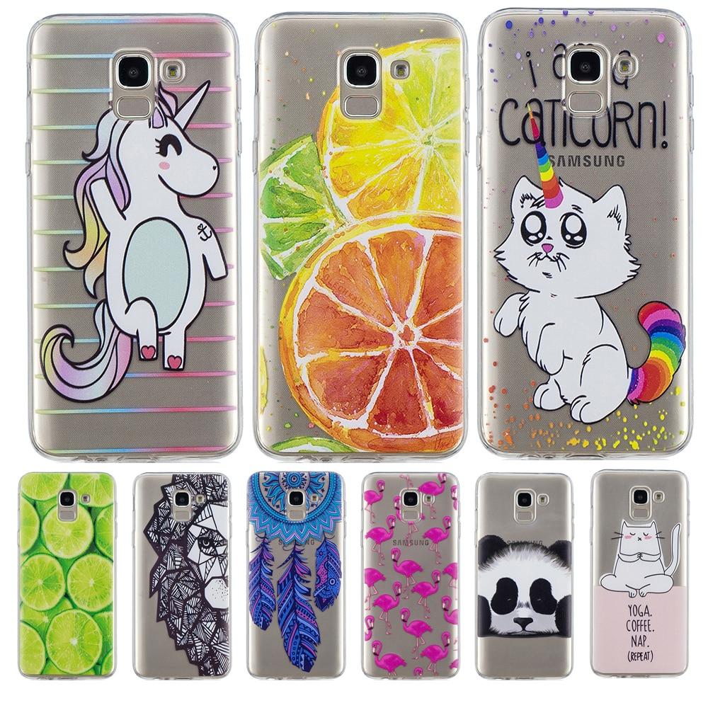 6a7bb0736a Cartoon For Coque Samsung Galaxy J6 2018 Silicon TPU Case animal cat Back Cover  cute Capa For Funda J600 J600F EU Version shell