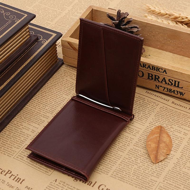 Ny Brand Luxury Business Man pengar klipp plånbok med metall klämma - Plånböcker - Foto 3