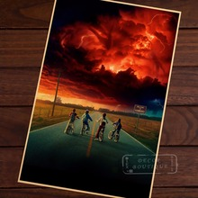 Season 2 Sci-Fi Stranger Things Montauk Horror Retro Vintage Canvas Painting Poster DIY Wall Paper Posters Home Decor Gift