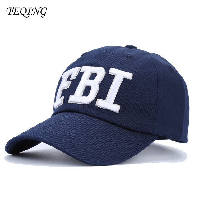 TEQING 2017 New Arrival Autumn FBI Baseball Cap Hats Embroidery Sun Hat  Outdoor Caps Hip-hop Hats Casual Peaked Hat 32954adde90