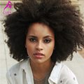Brasileño Afro Rizado Rizado Encaje Completo Pelucas de Cabello Humano Para Negro mujeres 7A Rizada rizada Del Frente Del Cordón Del Pelo Humano Pelucas Llenas Del Cordón pelucas