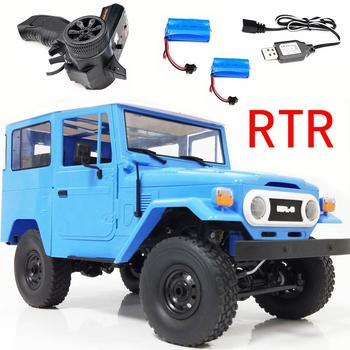 RCtown WPL C34 1/16 RTR 4WD 2.4G Buggy Crawler Off Road RC Car 2CH Vehicle Models With Head Light Plastic Double Battery