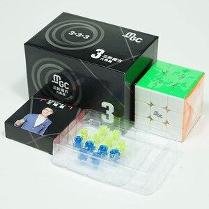 Image 2 - Cubo mágico magnético YJ MGC V2 M 3x3x3, versión 2, Yongjun MGC V2 2*2, Cubo de velocidad para entrenamiento cerebral, juguetes para niños