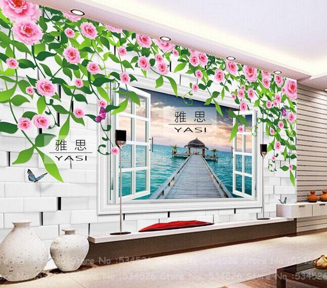 Papel pintado para paredes paisajes costumbre mural papel - Murales papel pintado para pared ...