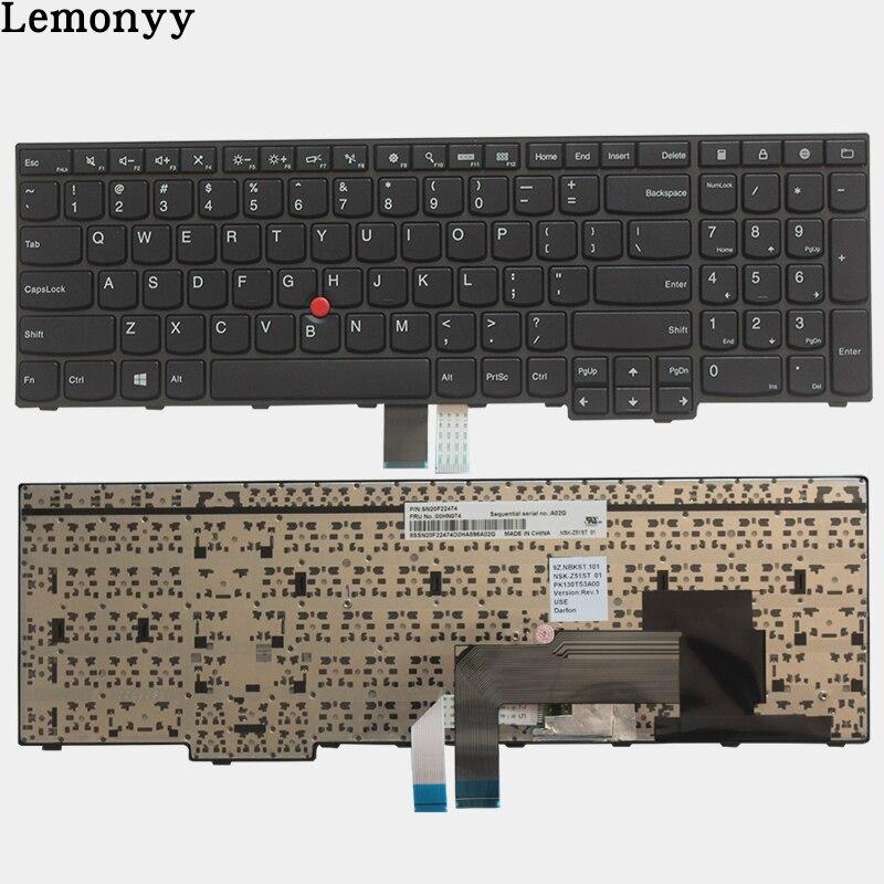 New for IBM Lenovo Thinkpad E550 E550C E555 E560 E565 Keyboard Teclado US English 00HN000 00HN074 00HN037 Non-backlightNew for IBM Lenovo Thinkpad E550 E550C E555 E560 E565 Keyboard Teclado US English 00HN000 00HN074 00HN037 Non-backlight