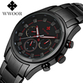 Top Luxury Brand WWOOR Men Sports Watches Men's Quartz Hours Chronograph 6 Hands Clock Man Stainless Steel Military Wrist Watch