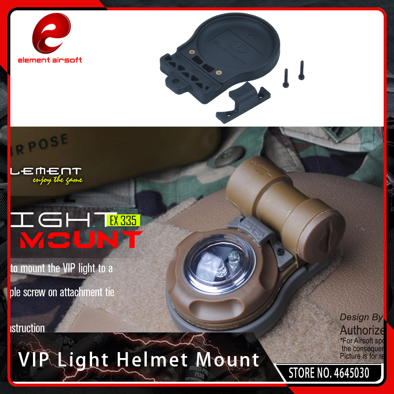 Element Airsoft Tactical SOS VIP Safety Signal Strobe Light Helmet Mount With Magic Tape Military Hunting Helmet Accessories