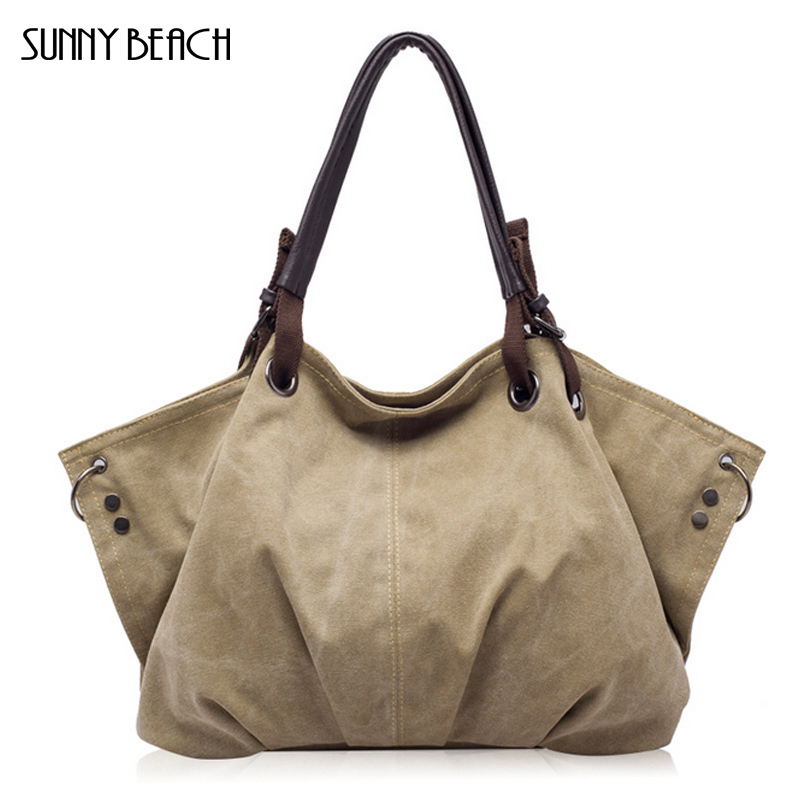 2017 new Fashion designer Simple women handbag Canvas bag ladies casual Shoulder Messenger Bag