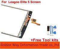 Angcoucoux Voor Leagoo Elite 5 Touchscreen Vervanging Onderdelen Voor Outer Lens Glas Panel Digitizer Voor leagoo elite5 + Gratis tool