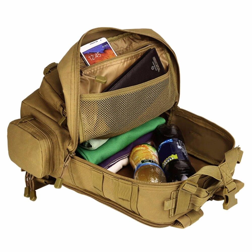 Sac à dos militaire sacs à dos de voyage sac à dos en Nylon imperméable à l'eau sacs à dos tactiques Molle sacs à dos d'ordinateur portable - 3