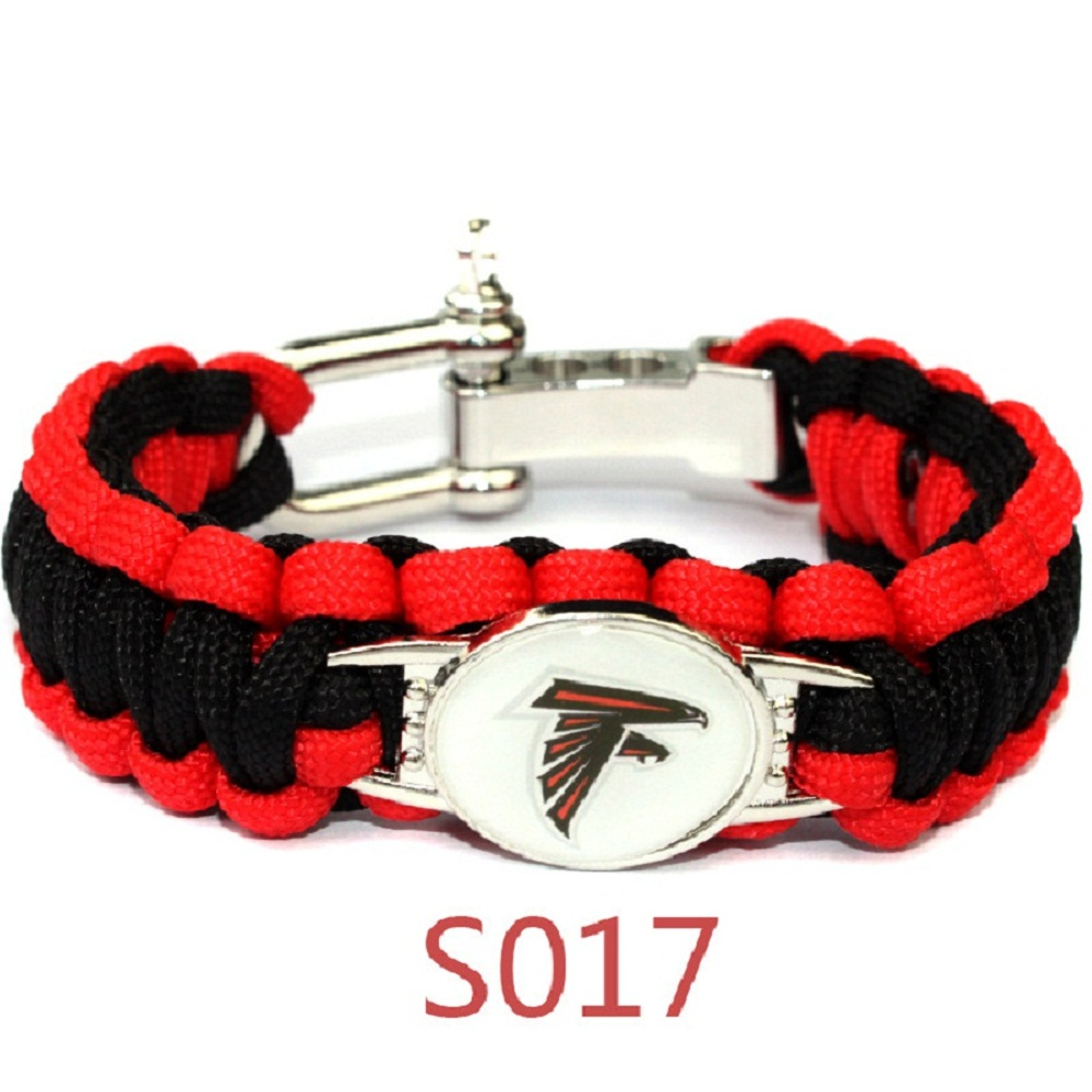 Football Metal Buckle Umbrella Braided Bracelet America Sport Team Arizona Cardinals Jew ...