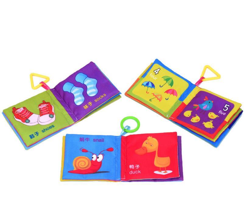 Nouvelle arrivée tissu livres apprendre l'anglais et chinois pour 3 ans enfant