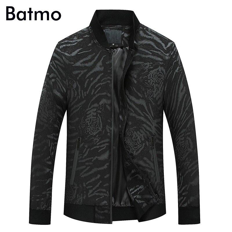 Batmo 2018 nouvelle arrivée printemps haute qualité imprimé Tigre rayures casual vestes hommes, hommes de mince vestes plus-taille M à XXXL 6707