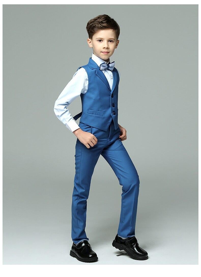2018 spring boys nimble vest suits for weddings kids prom suits blue ...