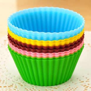6 個丸形シリコンマフィンケースケーキ/プリン/チョコレートカップケーキモールド/カップケーキ/ベーキングモールド耐熱皿ベーキングモールド DIY ツール