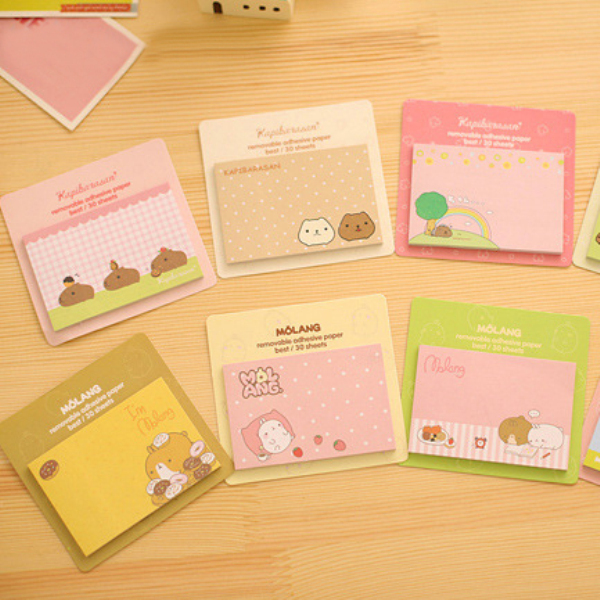 1Pcs New Memo Pad Kawaii Bear Sticky Notes 8 Style Post It Stickers Cartoon Notepad Paper Cute Point Marker Stationery H0223
