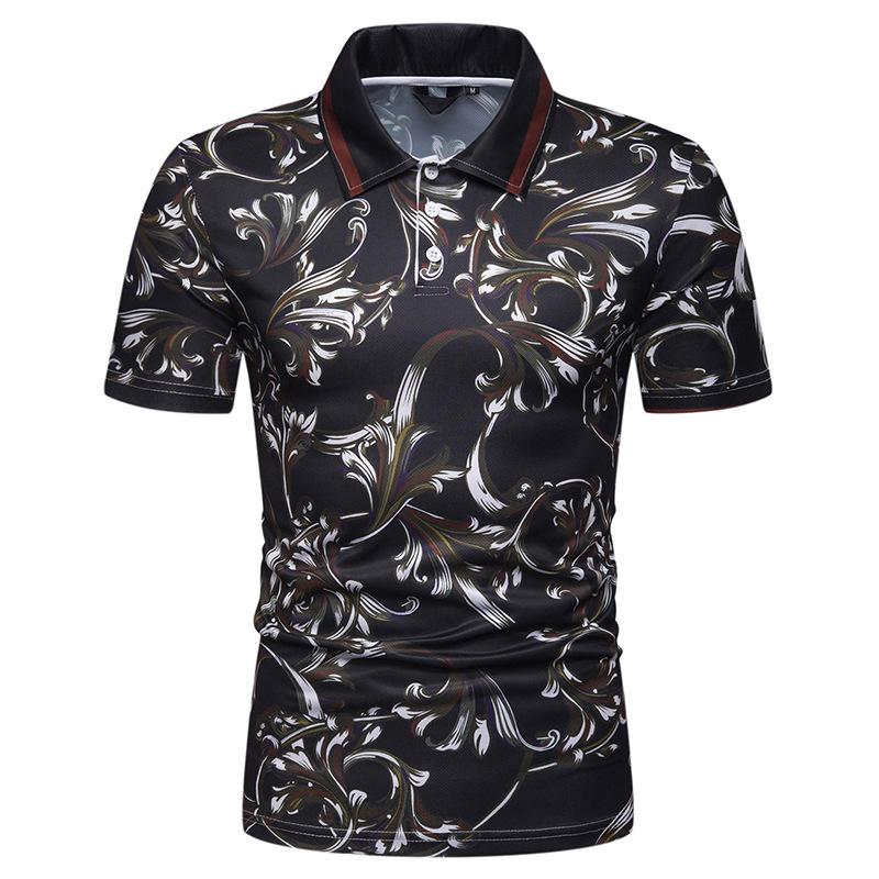 Men   Polo   Shirt Beach Leisure Floral print   Polo   Shirt Men Short sleeve Summer Tops Hawaii Tees Men's Clothing New