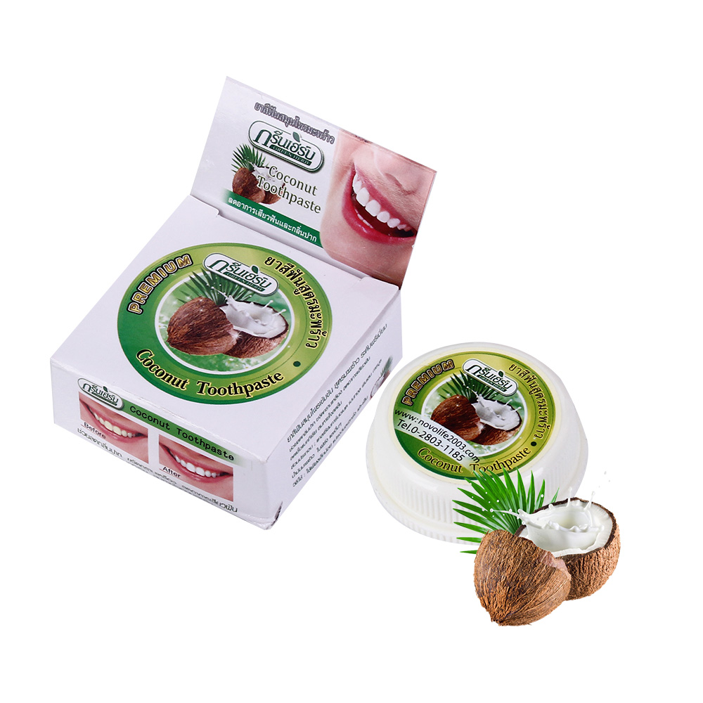 10g Natural Coconut Thailand Toothpaste Teeth Whitening Tooth Powder Herbal Clove Toothpaste Mouthwash Tooth Paste