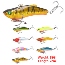 7 color Sinking VIB Artificial Lure 70mm 18g Plastics Fishing 3D Eyes Outdoor Tail Wobblers Lake Multicolor Hard Bait цены