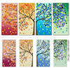 2016 Fashion Colorful Tree Embroidery DIY Counted Cross Stitch Kit Handmade Needlework Home Room Decor High