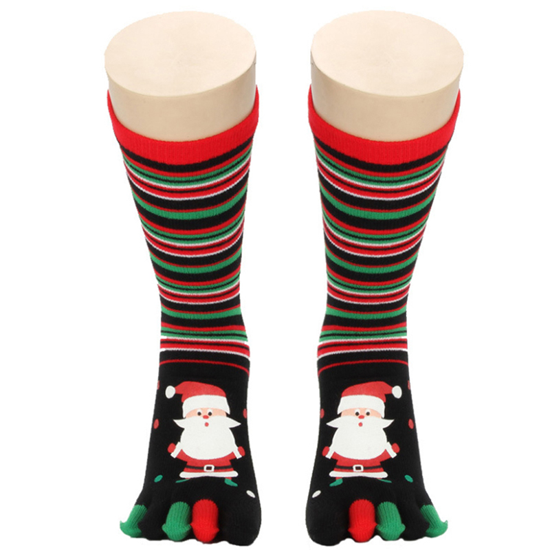 Toe Socks Christmas Women Casual Socks Harajuk Unisex Long Funny  socks Kawaii Calcetines mujer Sokken Meias calca feminina