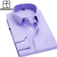 Long Sleeve Shirt Men 2016 Autumn New Fashion Designer High Quality Solid Shirt Non Iron Slim