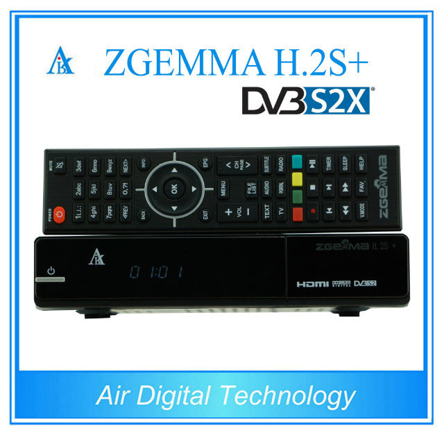 Best Offer for 10pcs/lot New ZGEMMA H .2S Plus with DVB-S2+DVB-S2X+DVB-T2/C Three Tuners H.264 HD Satellite Receiver цены онлайн