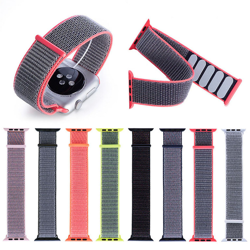 38/42mm Nylon Sport Loop Watch Band Strap For Apple Watch Series 4 3 2 1 Soft Breathable And Lightweight The New Sport Loop Band