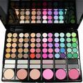 Moda Hot Sale 78 Cores de Maquiagem Paleta Sombra Cosméticos Escova Kit Com Espelho Caixa de Blush Escovas da Sombra de Olho Paleta #1704