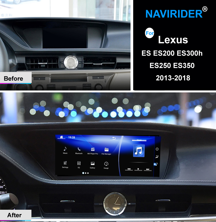 NAVIRIDER Android 7.1 Car multimedia GPS Stereo Radio Audio Per Lexus ES ES200 ES300h ES250 ES350 2013-2018 testa unità recorder