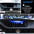 NAVIRIDER Android 7.1 multimídia Carro GPS Rádio Stereo Audio Para Lexus ES ES200 ES300h ES250 ES350 2013-2018 cabeça unidade de gravador